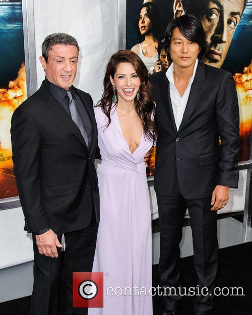 Sylvester Stallone, Sarah Shahi and Sung Kang 2