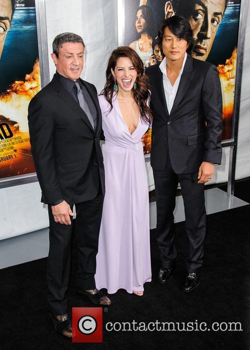 Sylvester Stallone, Sarah Shahi and Sung Kang 6