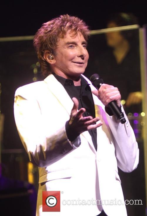 Barry Manilow performs during the opening night of 'Manilow On Broadway'