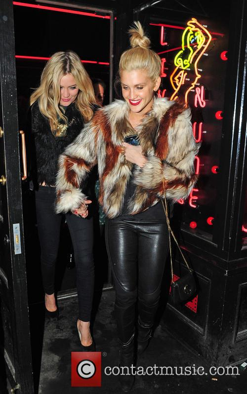Ashley Roberts and Laura Whitmore celebrate a friends...