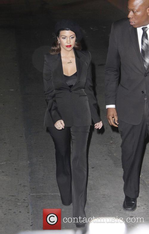 The Kardashian family arriving at Kimmel Live TV...