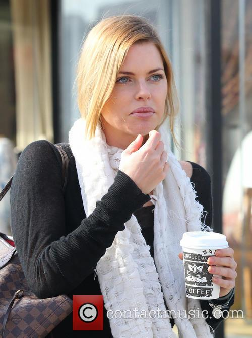 Sophie Monk stops for coffee at Kings Road...