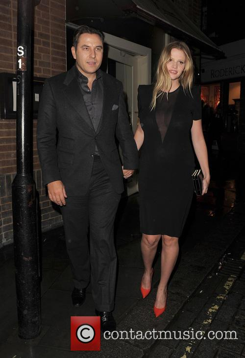 David Walliams and Lara Stone leaving La Petite...
