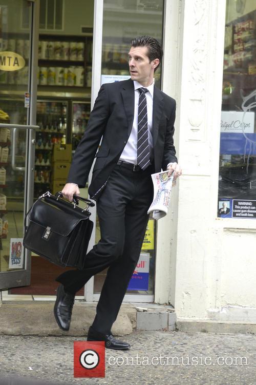 Jason Hoppy  on his way to work
