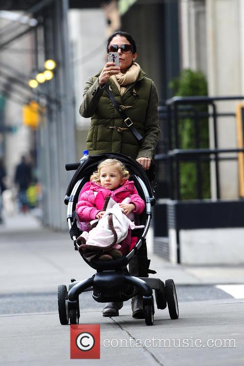 Bethenny Frankel is seen out with baby Bryn...