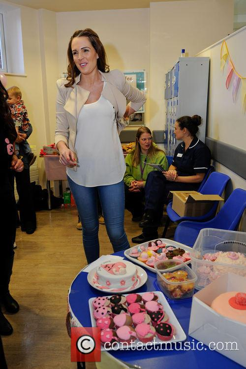 Danielle Lloyd at the Birmingham City Hospital to...