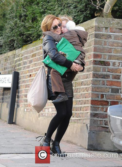 Geri Halliwell with her daughter Bluebell