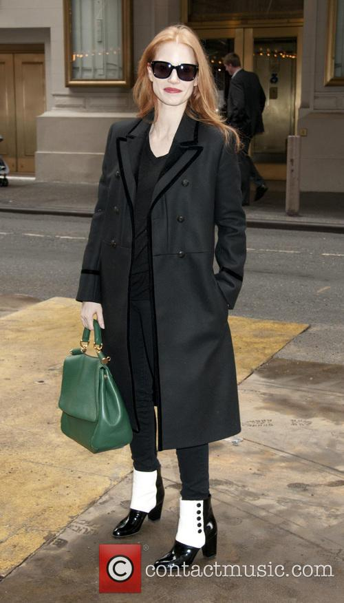 jessica chastain jessica chastain arrives for matinee performance 3475854