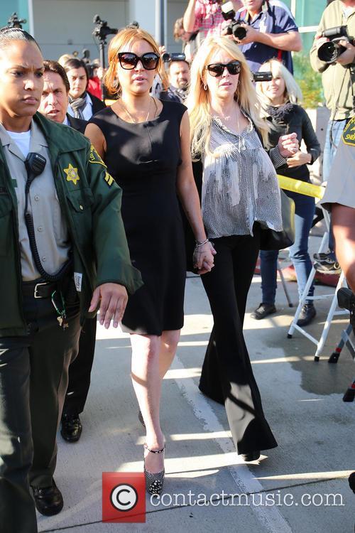 Mark Heller, Lindsay Lohan and Dina Lohan 5