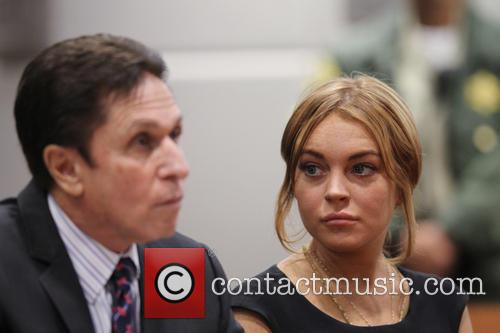 Lindsay Lohan at a Los Angeles court for...