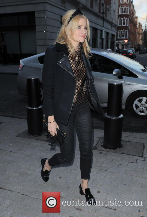 Pixie Lott arriving at the BBC Radio 1...