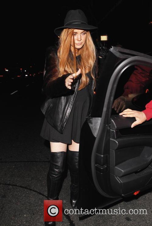 Lindsay Lohan at Dan Tana's restaurant