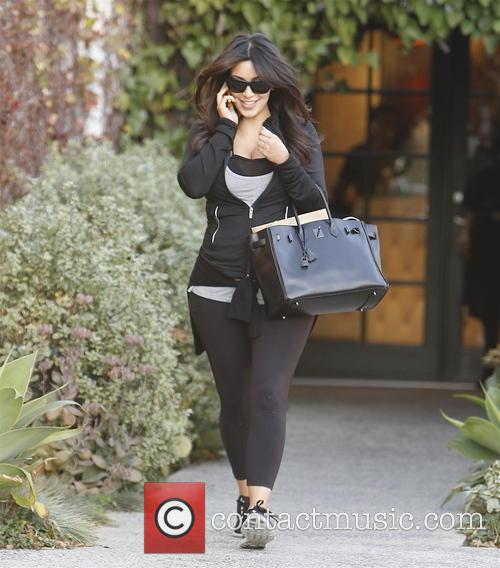 Kim Kardashian Leaving A Salon