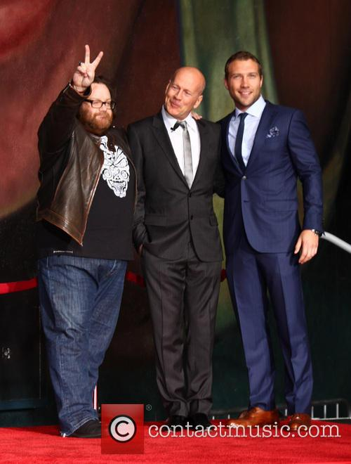 John Moore, Bruce Willis and Jai Courtney