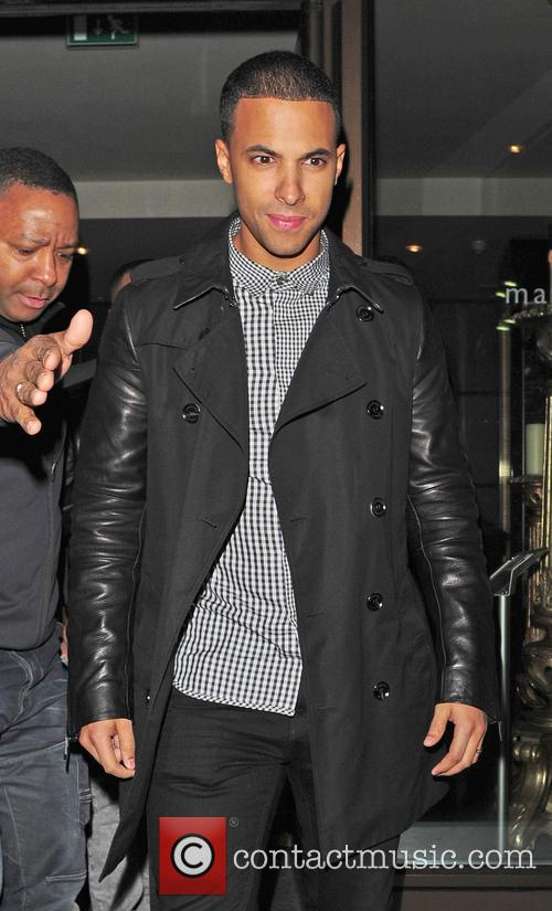 JLS seen leaving The Mayfair Hotel Bar