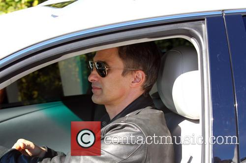 Olivier Martinez leaving Cecconi's restaurant