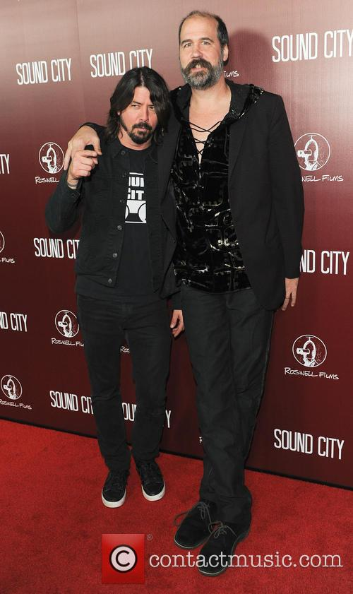 Krist Novoselic And Dave Grohl At Sound City Premiere