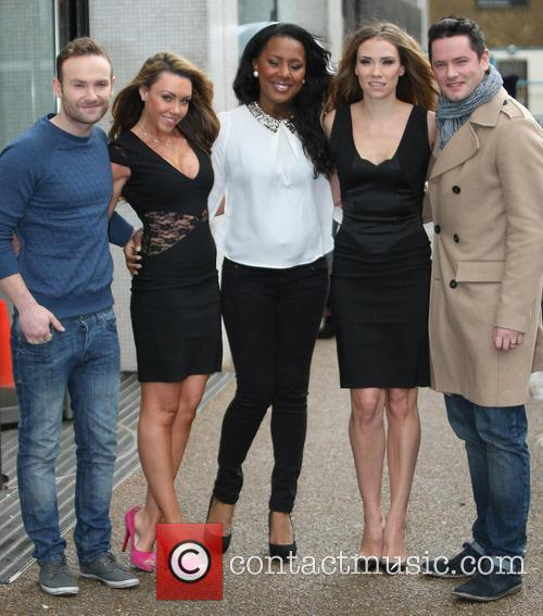 Kevin Simm, Michelle Heaton, Kelli Young, Jessica Taylor, Tony Lundon and Liberty X 1