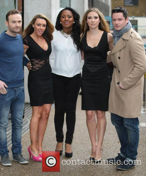 Kevin Simm, Michelle Heaton, Kelli Young, Jessica Taylor, Tony Lundon and Liberty X 3