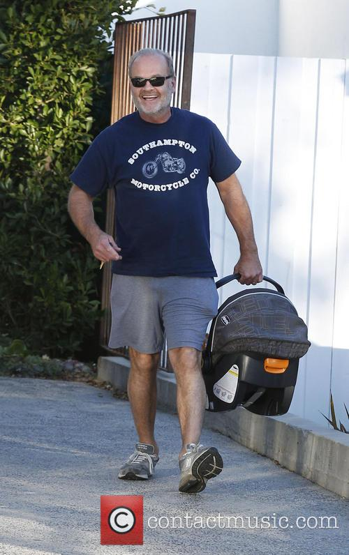 Kelsey Grammer seen leaving a hair salon with...