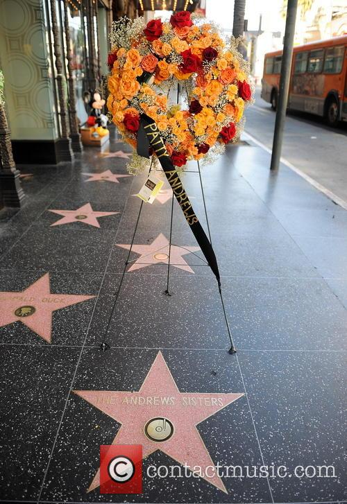 Flowers Left On The Andrews Sisters Star On The Hollywood Walk Of Fame 2