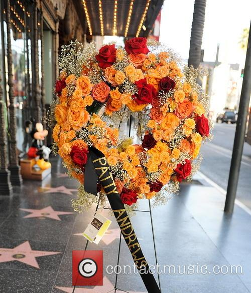 Flowers Left On The Andrews Sisters Star On The Hollywood Walk Of Fame 1