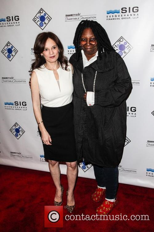 Julie Burns and Whoopi Goldberg 1