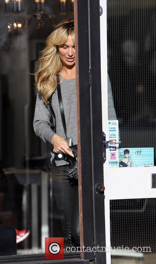 A make-up free Alex Gerrard leaves the Jordana...