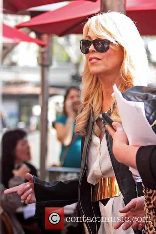 Dina Lohan seen shopping at The Grove