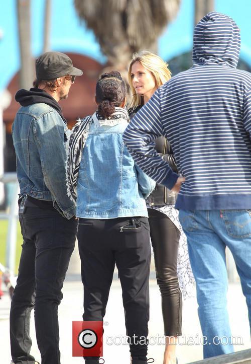 Heidi Klum filming 'Germany's Next Topmodel' on location