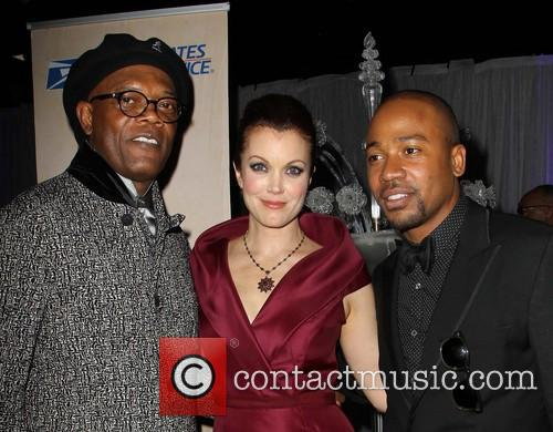 Samuel L. Jackson, Bellamy Young and Columbus Short 3