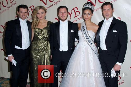 Tony Dovolani, Lina Dovolani, Val Chmerkovskiy, Miss Teen Usa Logan West and Maksim Chmerkovskiy 6