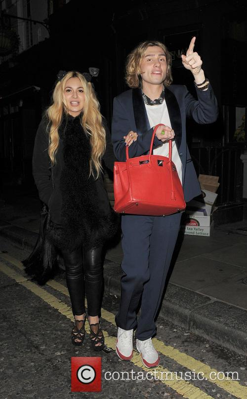 Celebrities leaving the Groucho Club on Harry Styles...
