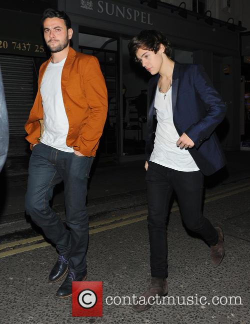 Harry Styles leaving the Groucho club in Soho,...