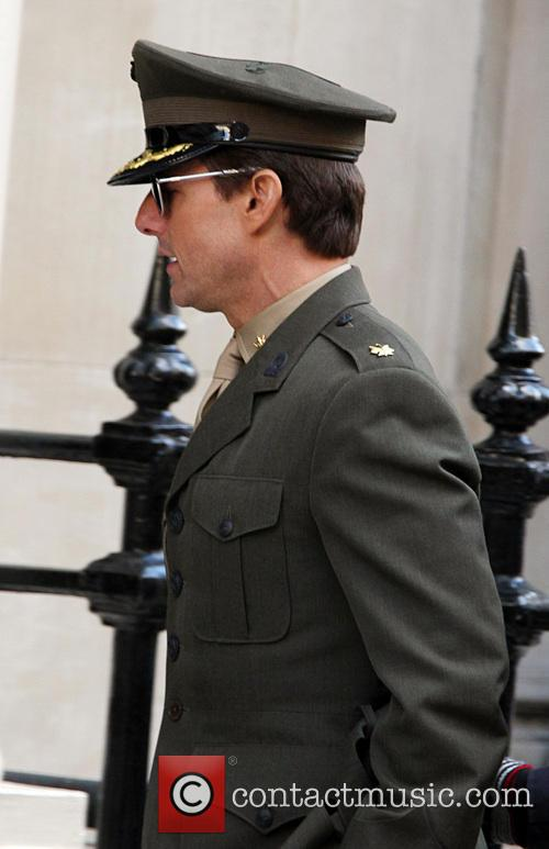 Tom Cruise and Emily Blunt filming scenes of new movie 'All You Need Is Kill'