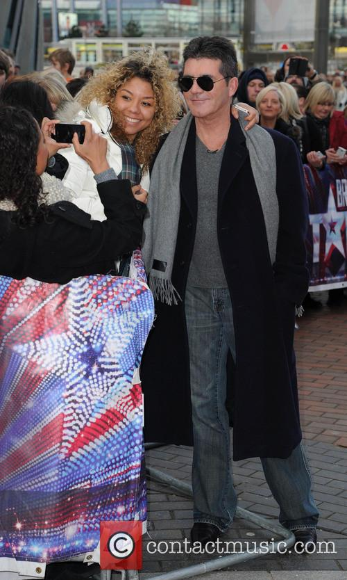 Simon Cowell At The Lowery Theatre Manchester For Britains Got Talent 2