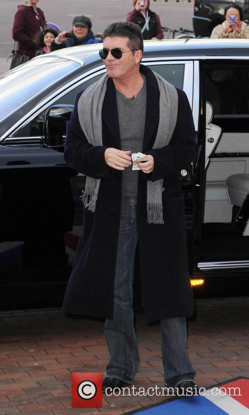 Simon Cowell At The Lowery Theatre Manchester For Britains Got Talent 1