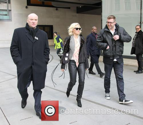 Kimberly Wyatt leaving the BBC Radio One studios