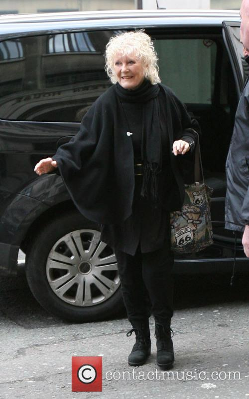 Petula Clark arriving at Radio 2 for The...