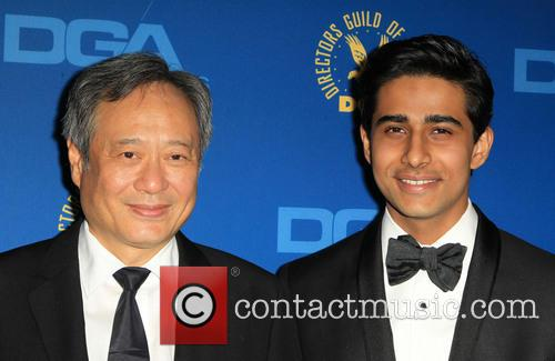 Suraj Sharma and Ang Lee at Directors Guild Of America