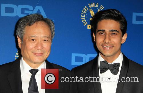 Suraj Sharma and Ang Lee at Directors Guild Of America