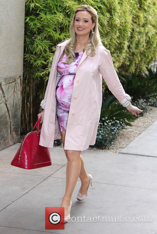 Holly Madison leaves her baby shower