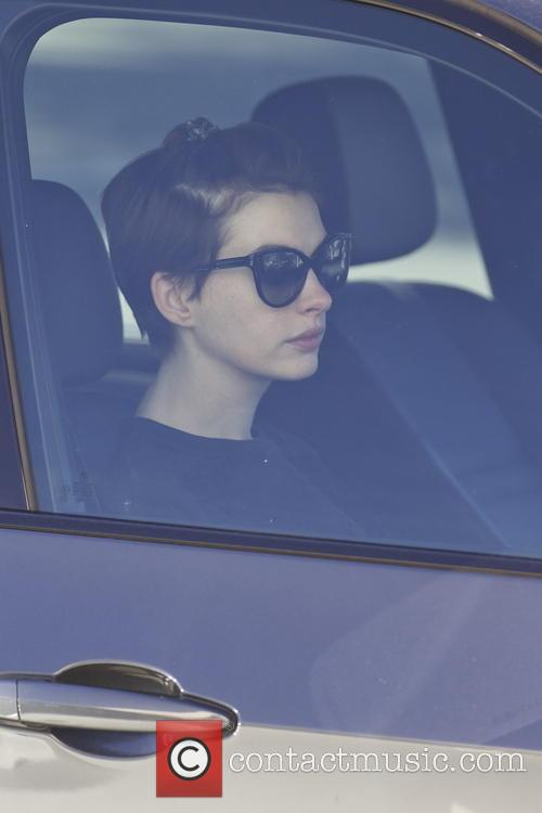 Anne Hathaway and Adam Shulman lunch