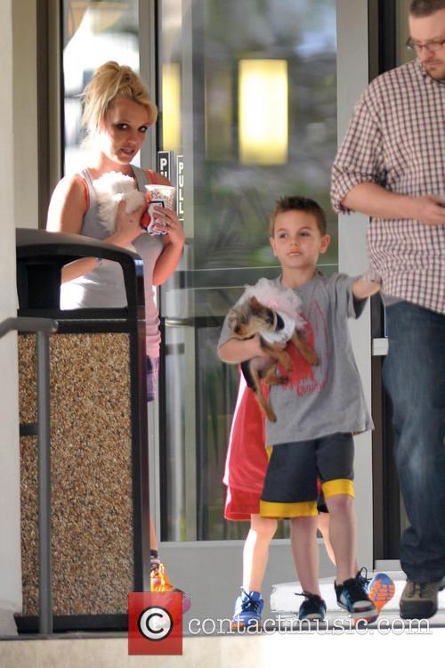 Britney Spears is  spotted leaving a doggie...