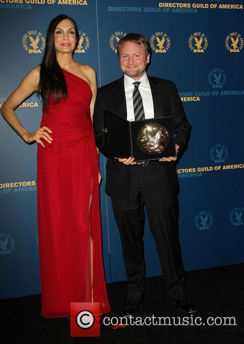 Famke Janssen and Rian Johnson