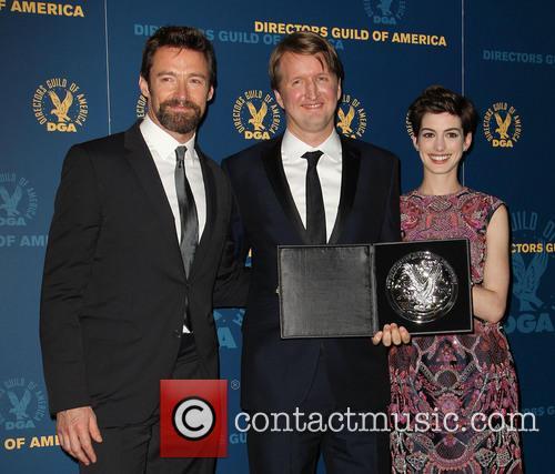 Hugh Jackman, Tom Hooper and Anne Hathaway 5