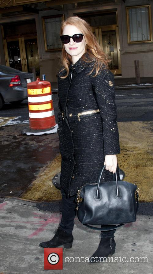 Jessica Chastain arrives for matinee performance