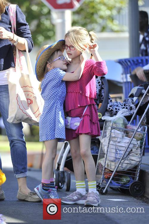 Violet Affleck and Seraphina Affleck 2