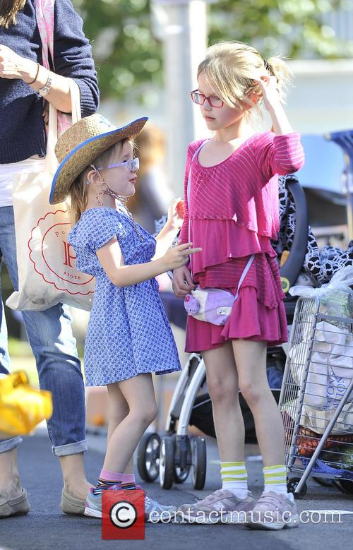 Violet Affleck and Seraphina Affleck 4