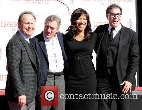 Billy Crystal, Robert De Niro, wife Grace Hightower, director David O. Russell